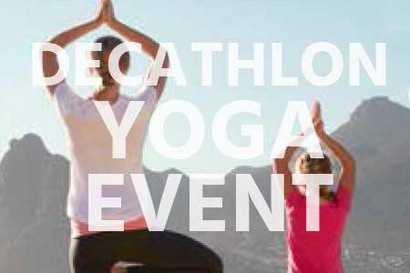Decathlon Yoga-Event mit Emba!